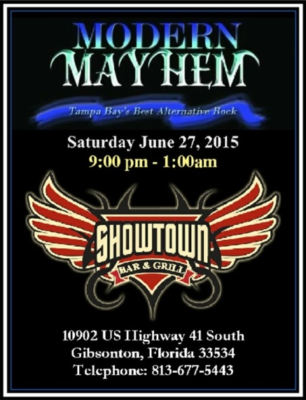 9pm - 1am Sat 6/27/15 Gibsonton, FL